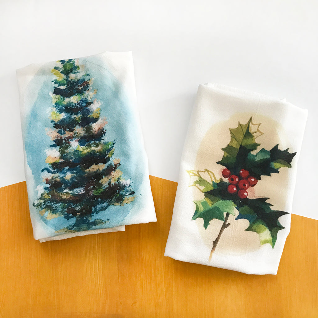Christmas Tea Towel 2 Pack