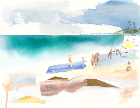 Print of Geometric Beach