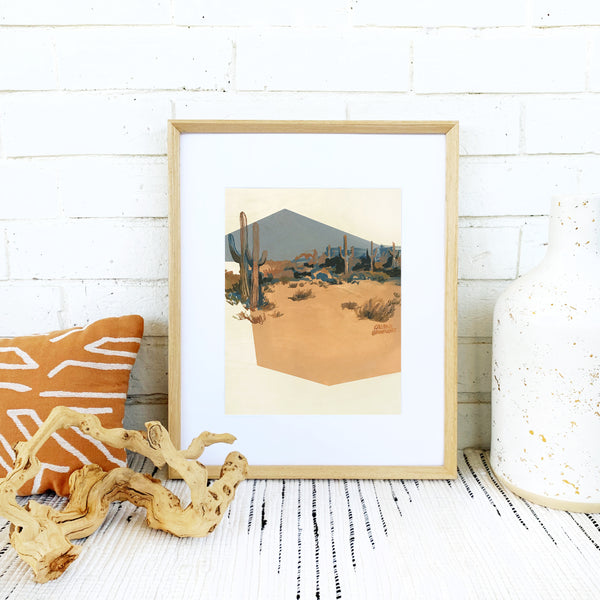 Print of Whiskey & Denim Desert