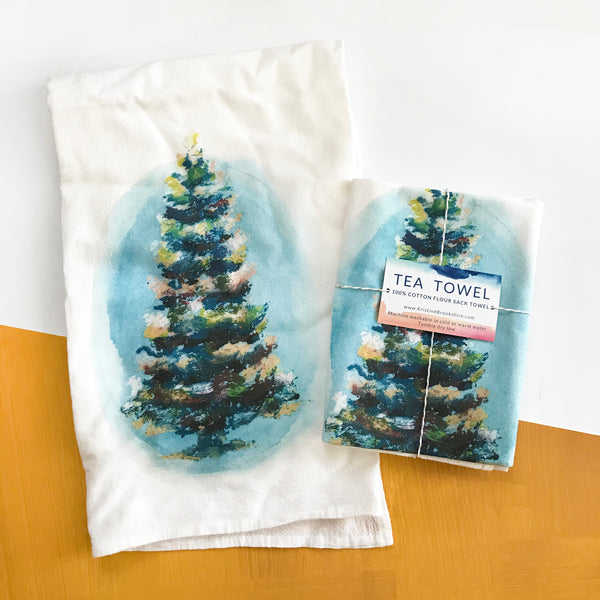 Christmas Tree Tea Towel