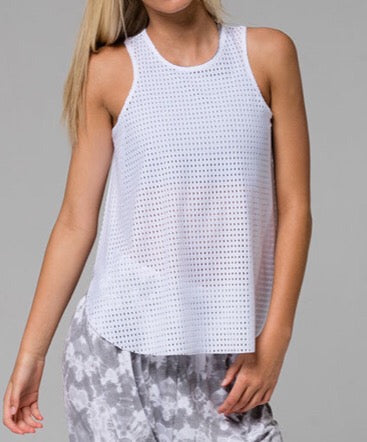 Molly Tank White Peep