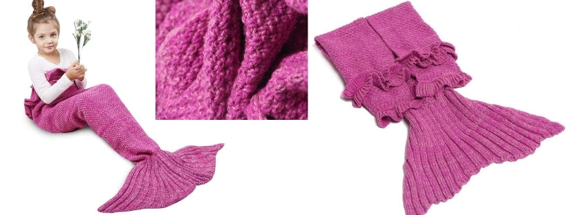 Knitted Tail Blankets pink