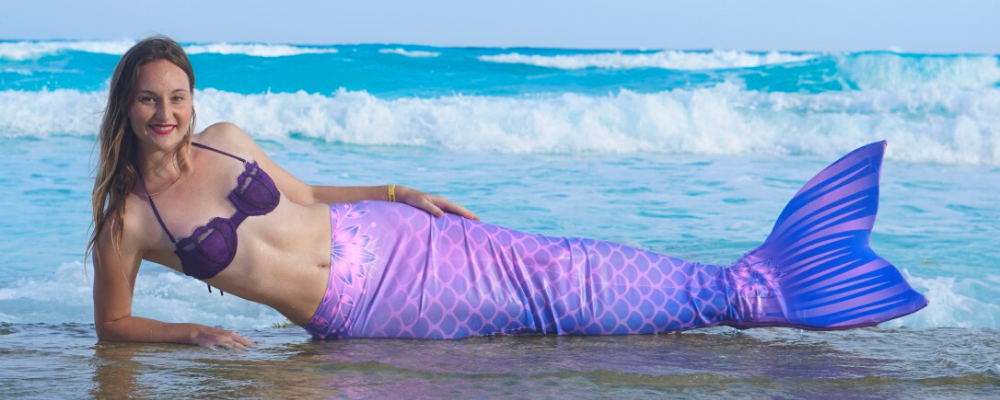 Purple mermaid tail aquamermaid