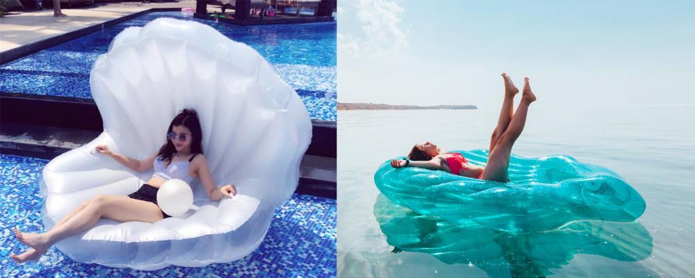 inflatable shell pool float