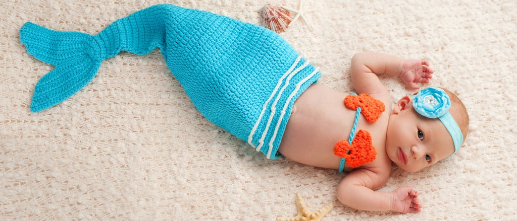 new born Mermaid Tail for baby