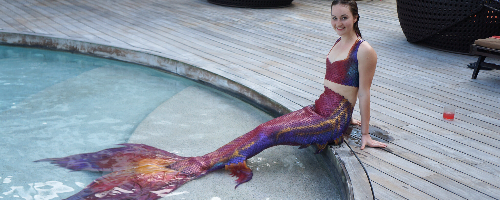 Mermaid marielle montreal red silicone mermaid tail