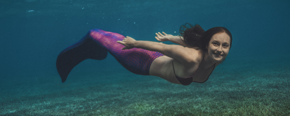 Mermaid Marielle swimming pink purple mermaid tail