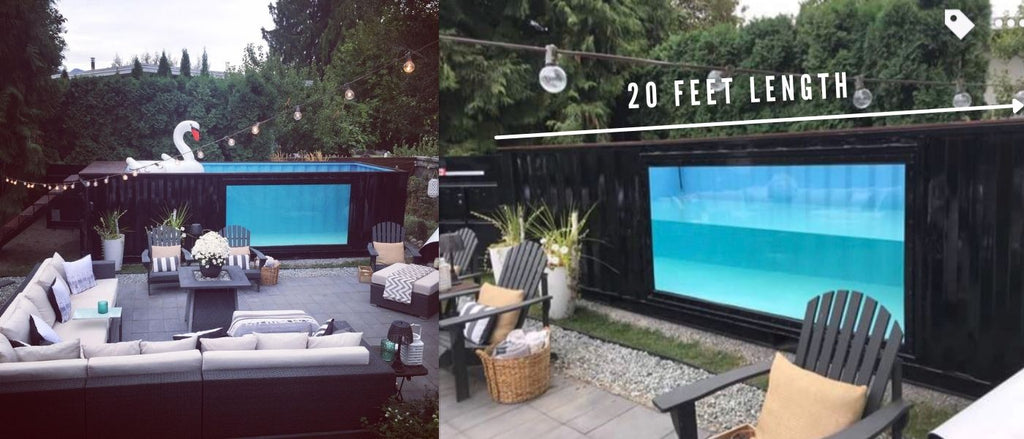 20 feet shipping container pool