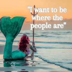 I want to be where the people are