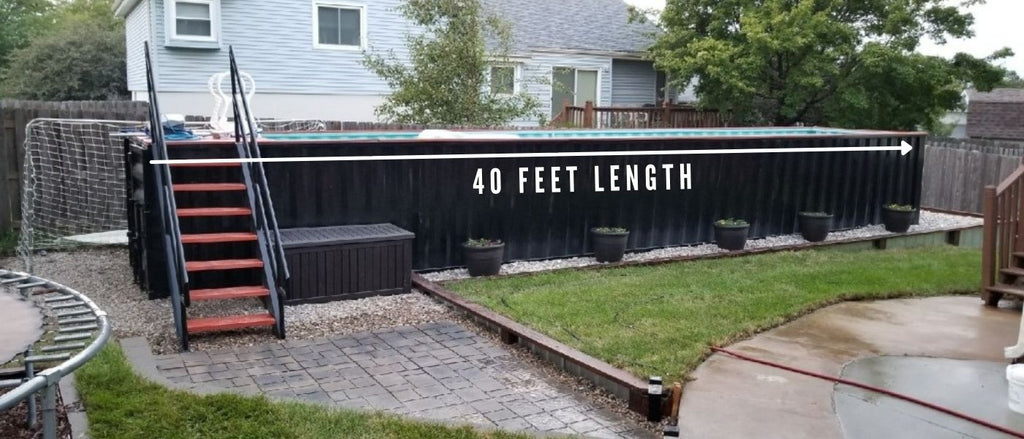 40 feet shipping container pool