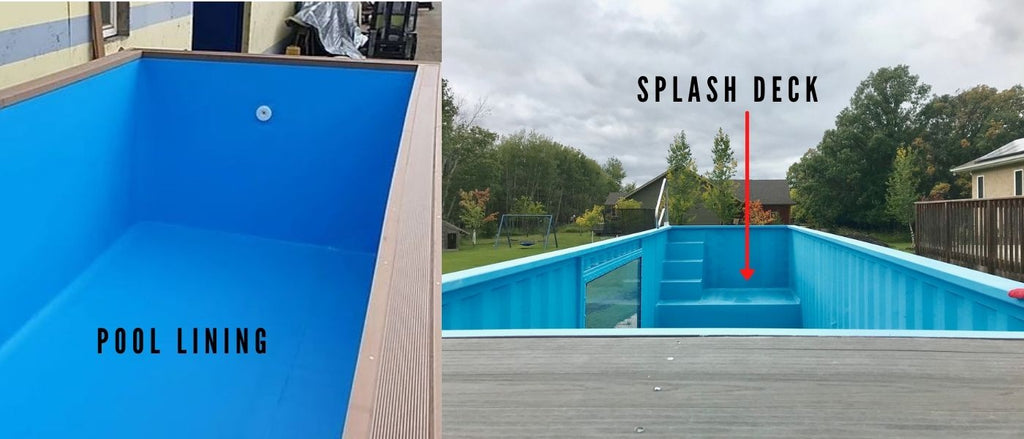 Shipping container pool construction