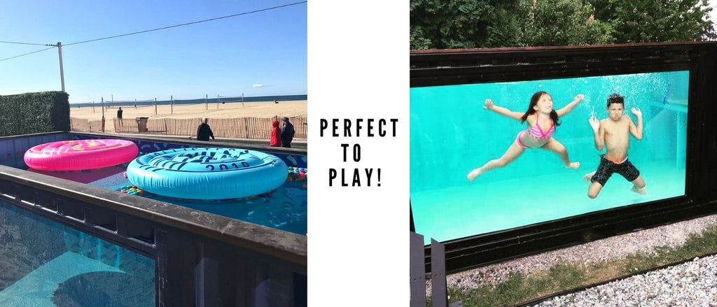 shipping container pool for family kids