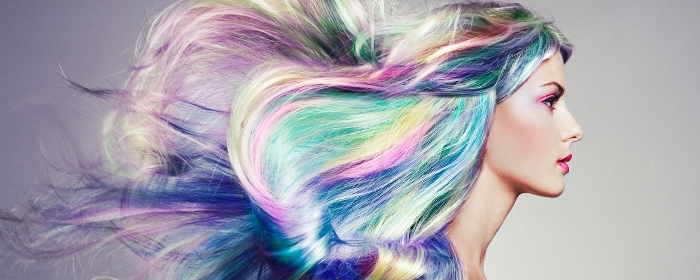 mermaid colored hair rainbow pastel