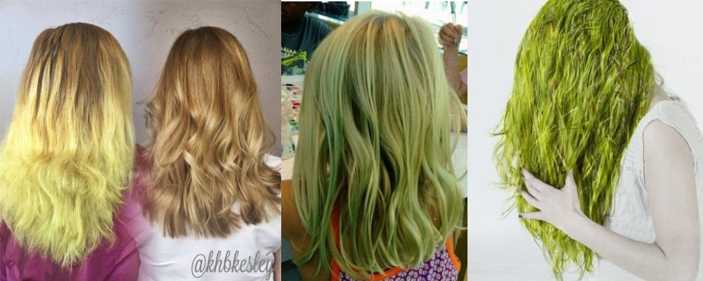 Chlorine hair turning green before and after