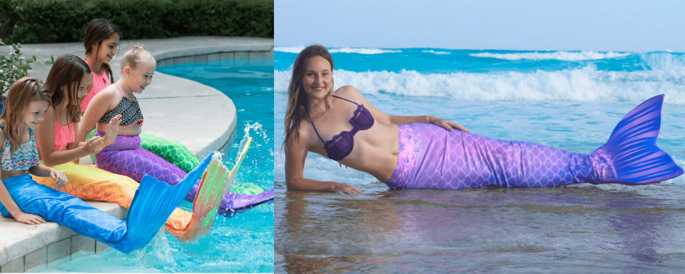 Aquamermaid tail swimmable mermaid tail for kids adults