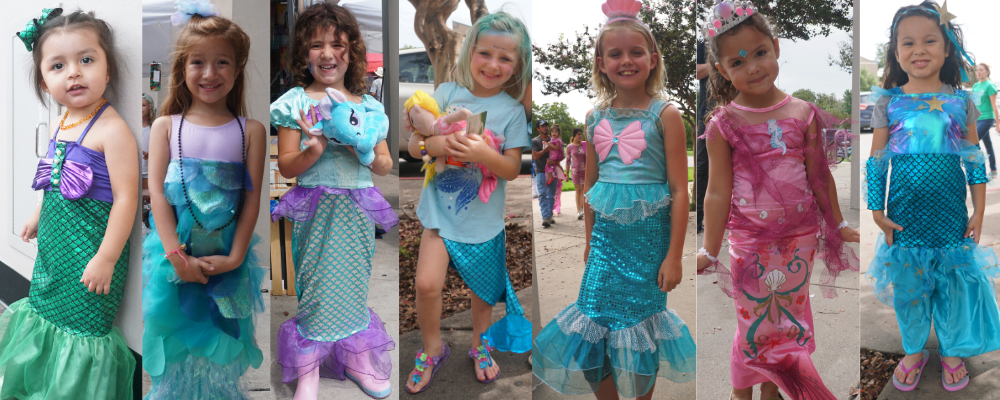 Mermaid tail skirt for kids