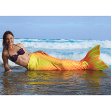 Load image into Gallery viewer, yellow mermaid tails for adults