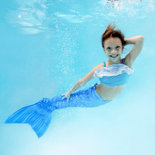 Load image into Gallery viewer, blue swimmable mermaid tails