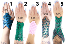 Load image into Gallery viewer, mermaid scales bracers silicone cosplay