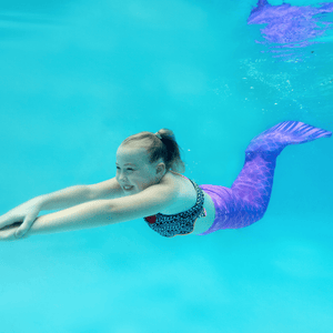purple mermaid tails for swimming