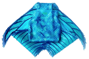 Foldable mermaid tail fluke, Small size, light