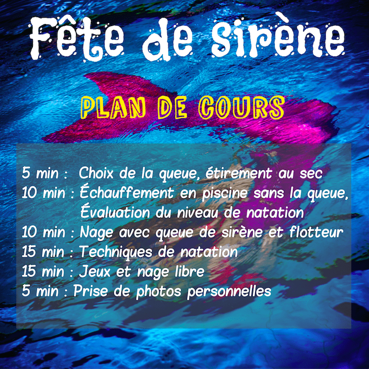 F tes d 39 enfants bachelorette f te de sir ne aquasir ne for Queue de sirene piscine
