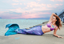 Load image into Gallery viewer, Aqua-Glitter - Sequin Mermaid Tail