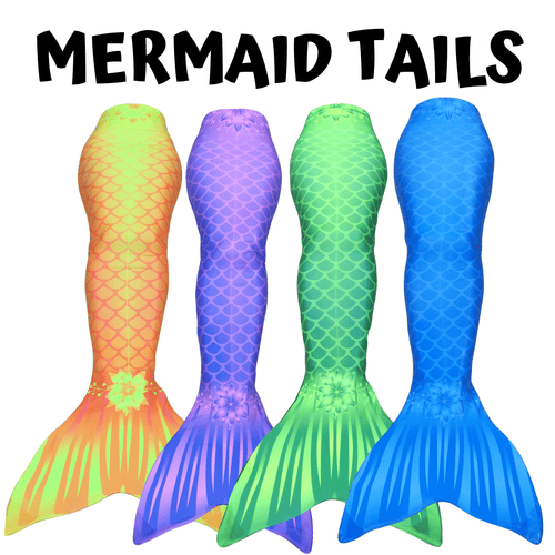 Mermaid tails kids adults aquamermaid yellow blue green purple