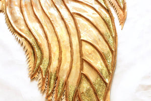 Gold sequin mermaid tail silicone fluke glitter