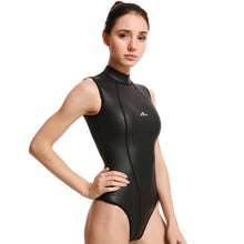 Load image into Gallery viewer, women rashguard short sleeve wetsuit black one-piece lifurious