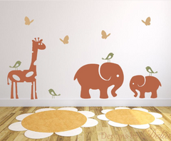 Jungle Animals Decals