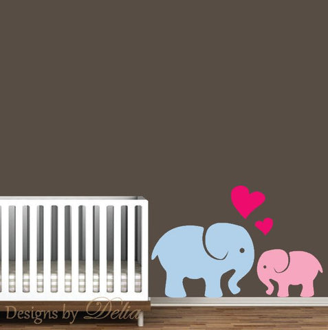 Nursery Elephant Love Decals