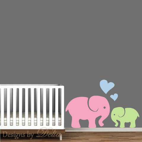 Elephant Decal for Nursery Cute Baby Elephant wall Art