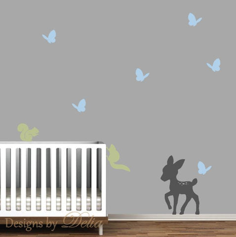 Nursery Forest Animals Wall Mural