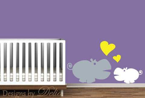 Cute Jungle Animal Wall Decal for Nursery