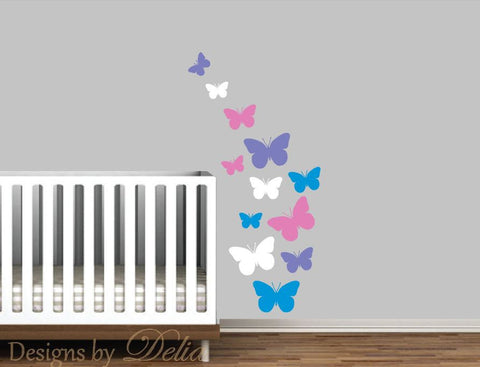 Butterflies Wall Decal for Children's Room or Nursery