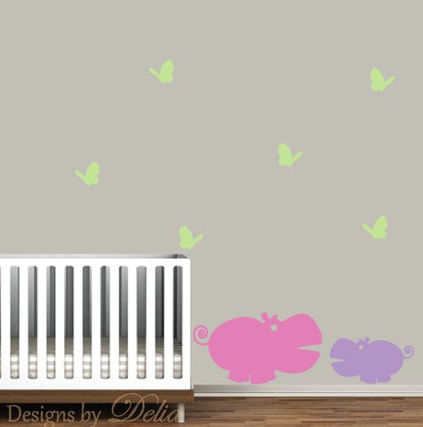 Children's Wall Decal, Jungle Animals Wall Mural
