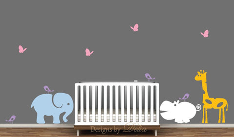 Jungle Animals Wall Decal Set For Nursery