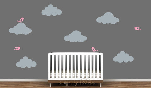 Clouds Decal Set for Nursery