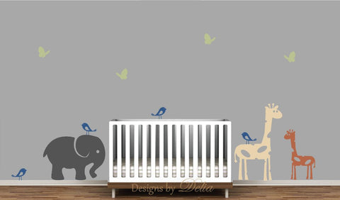 Wall Decals for Children's Room with Jungle Animals