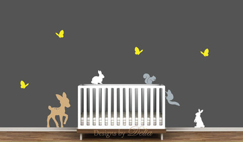 Forest Animals Decal Set for Baby Room