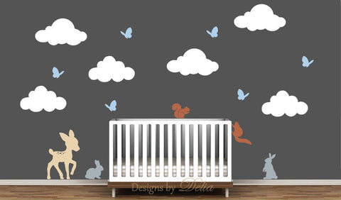 Wall Decal for Nursery with Forest Animals