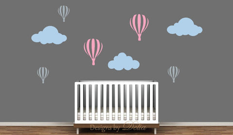Hot Air Balloon Nursery Wall Decals