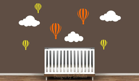 Clouds and Balloons Wall Decals for Children's Room
