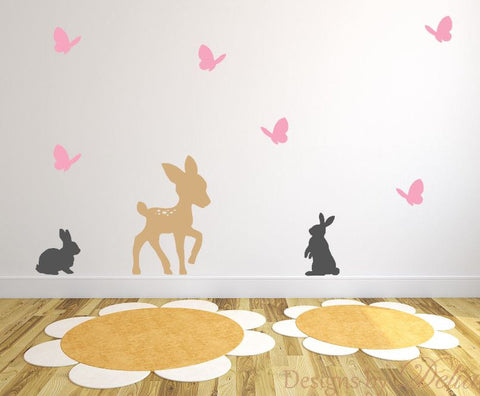 Cute Forest Animal Decals for Nursery