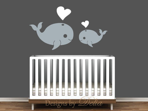Wall Decal with Whale Ocean Animals