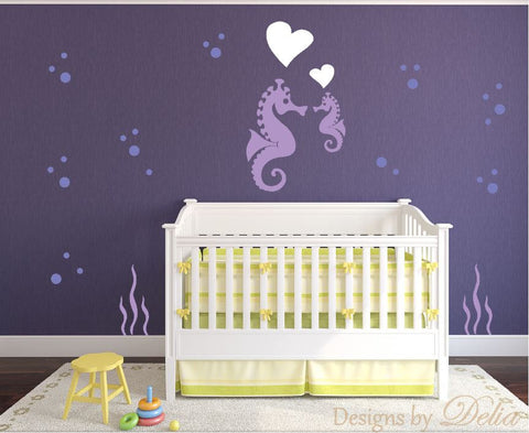 Children's Room Decal with Under Water Animals