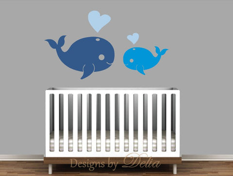Boy or Girl Nursery Whale Decals