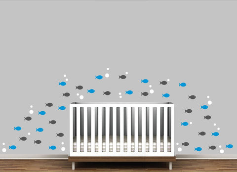 Colorful Fish Wall Decal for Baby Room