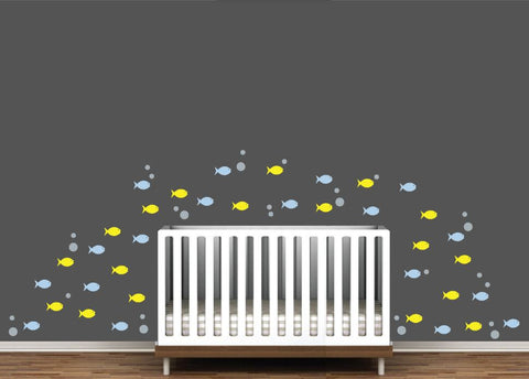 Baby Room School of Fish Wall Decor
